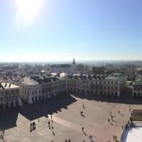 Zamość panorama z wieży ratusza